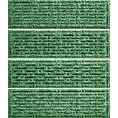 Light Green 8.5 in. x 30 in. Mesh Stair Tread Cover (Set of 4)