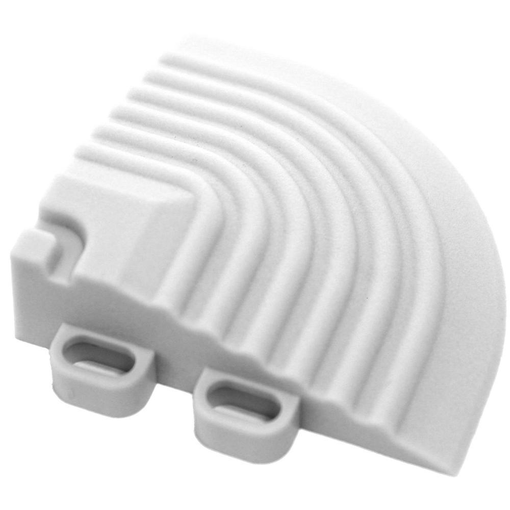 2.5 in. x 2.5 in. Artic White Corner Edging for 15.75 in. Swisstrax Modular Tile Flooring (2-Pack)