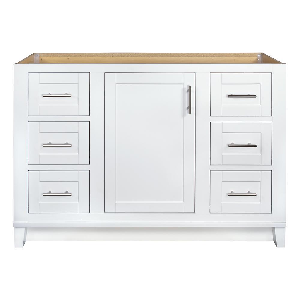 Glacier Bay Kinghurst 48 in. W x 21 in. x 33.5 in. H D Bathroom Vanity Cabinet Only in White