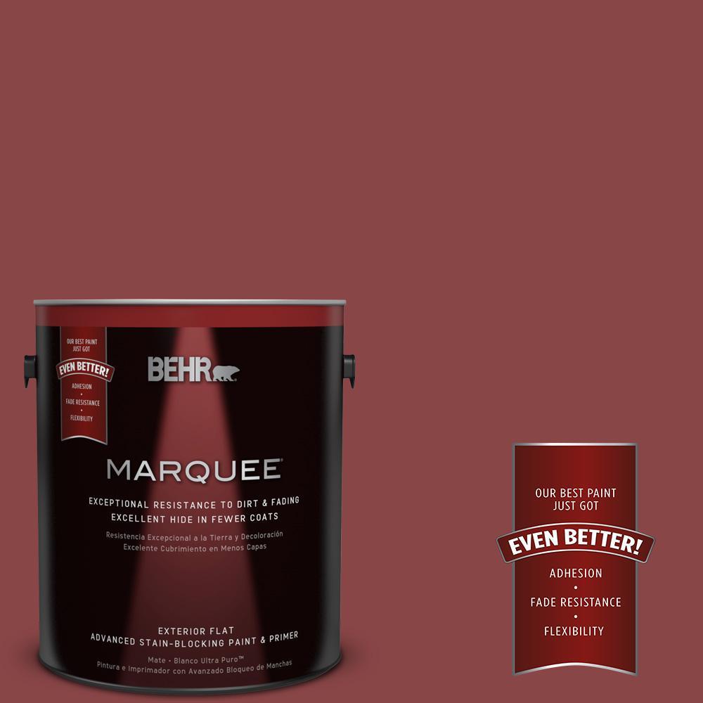 BEHR MARQUEE 1-gal. #PPU1-10 Forbidden Red Flat Exterior Paint