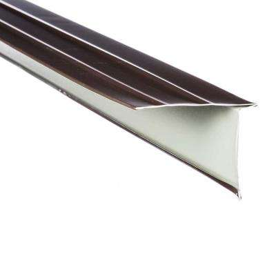 3 in. x 2 in. x 10 ft. Galvanized Steel Eave Drip Flashing in Royal Brown