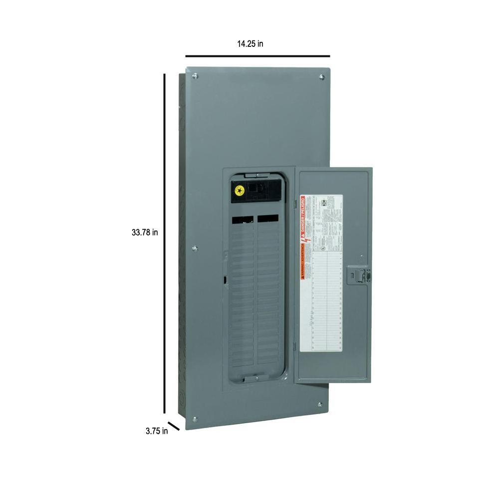 Square D QOM2200VH Main Circuit Breaker 200A 120//240v w//Electrical Enclosure Box