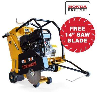 18 in  13 HP Honda Walk Behind Concrete Saw for Concrete and Asphalt Sawing  with GX390 Honda Engine