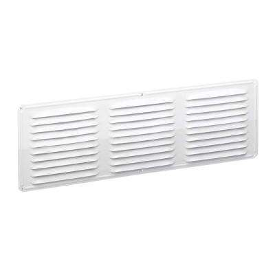 Undereave 16 in. x 6 in. Louvered Aluminum Soffit Vent in White (Sold Soffit Vent in 24-Pieces/Carton Only)