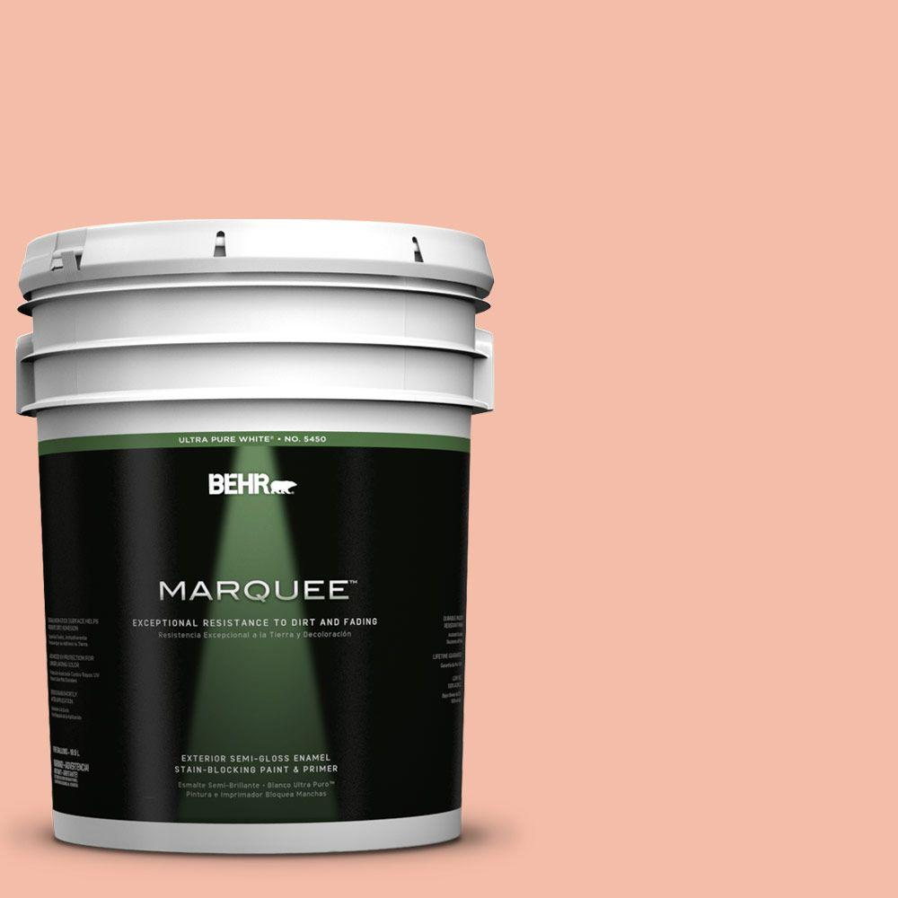 BEHR MARQUEE 5-gal. #HDC-SP14-4 Heirloom Apricot Semi-Gloss Enamel Exterior Paint
