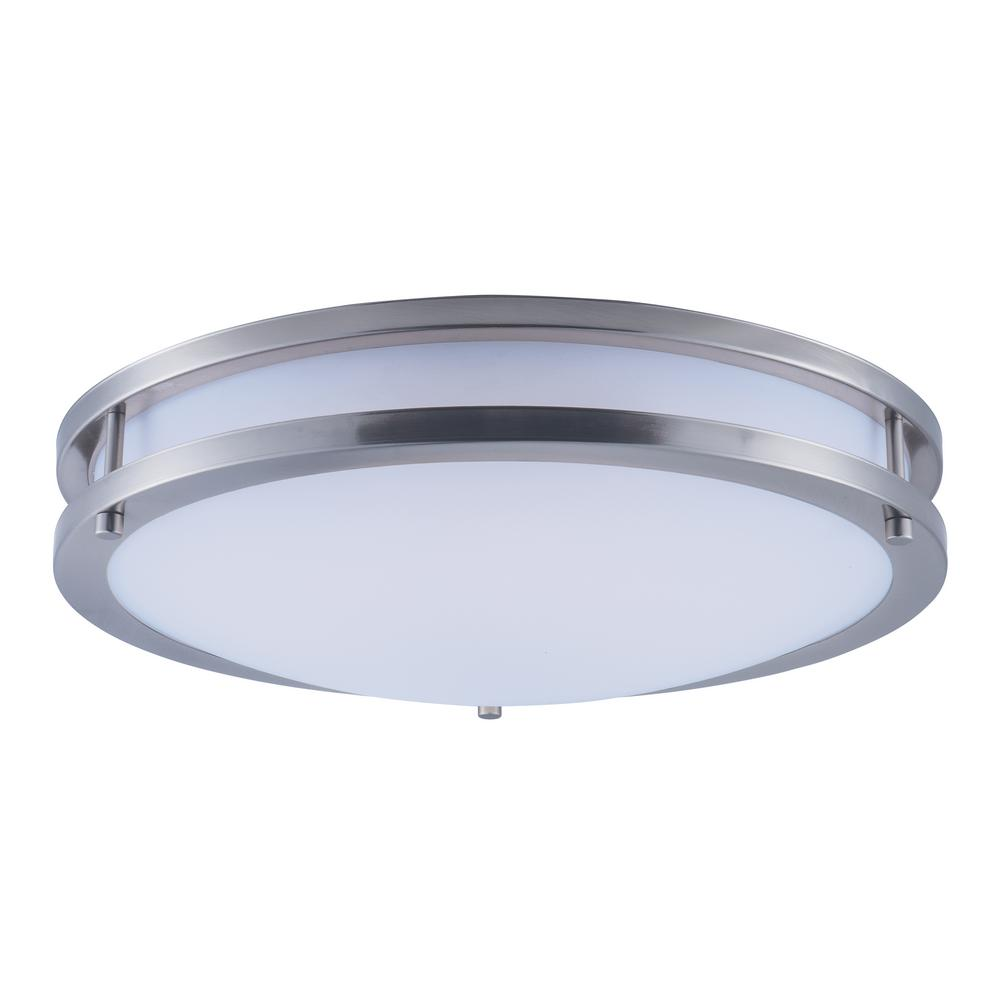 Maxim Lighting Linear LED 1-Light Satin Nickel Flush Mount