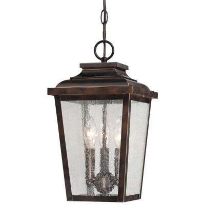 Irvington Manor 3 Light Chelsea Bronze Outdoor Chain Hung