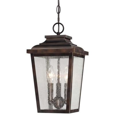 Irvington Manor 3-Light Chelsea Bronze Outdoor Chain Hung