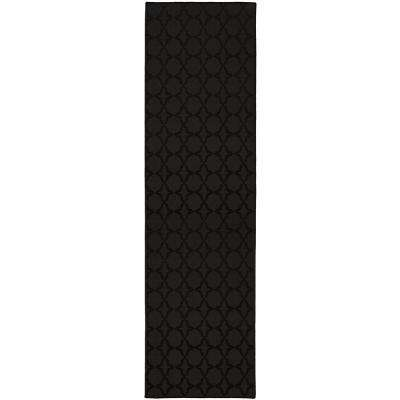 Sparta 3 ft. x 12 ft. Area Rug Runner Black