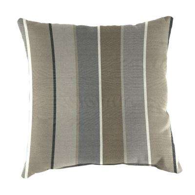 Sunbrella Milano Charcoal Square Outdoor Throw Pillow