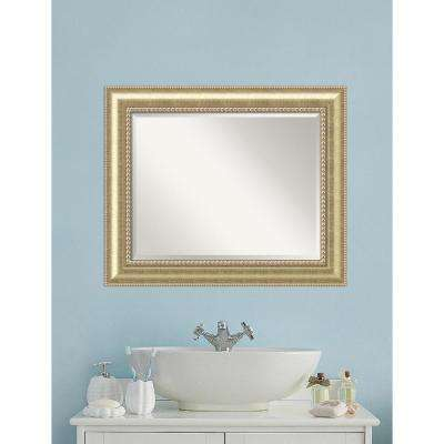 Astoria Champagne Wood 35 in. W x 29 in. H Traditional Bathroom Vanity Mirror