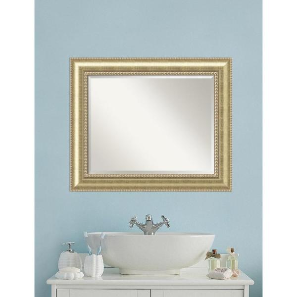 Home Decorators Collection Athens 40 In L X 28 In W Wall Mirror In Espresso Discontinued 1156600210 The Home Depot