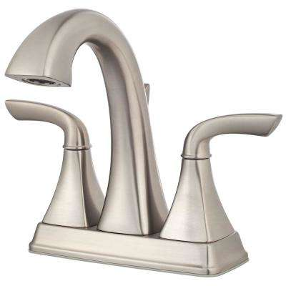 Bronson 4 in. Centerset 2-Handle Bathroom Faucet in Brushed Nickel