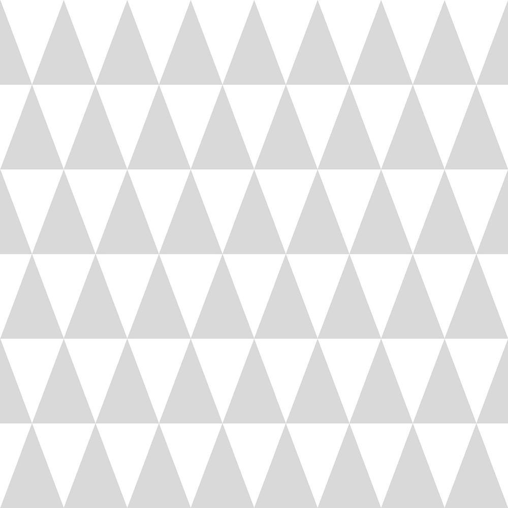 Verdon Light Grey Geometric Paper Strippable Wallpaper (Covers 56.4 sq. ft.)
