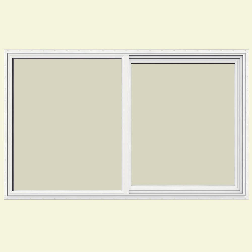 JELD-WEN 59.5 in. x 35.5 in. V-1500 Series Left-Hand Sliding Vinyl Window - White