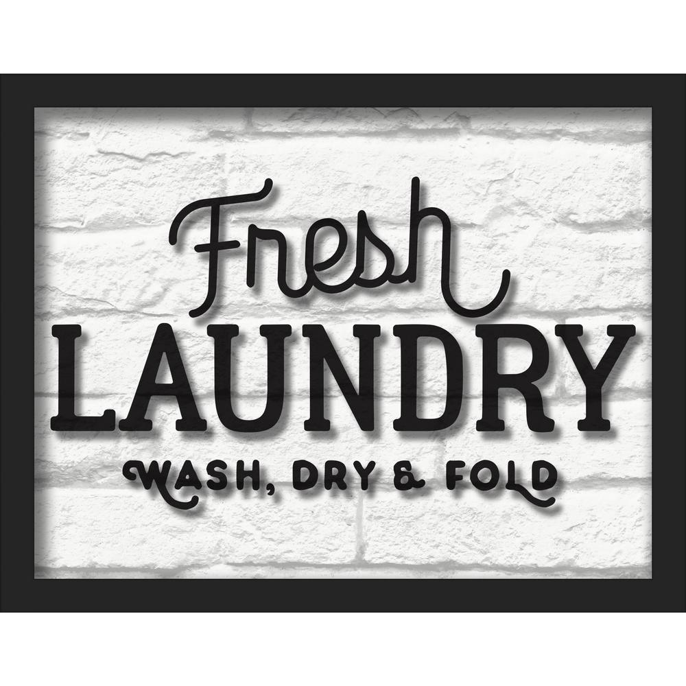 "14 in. x 11 in. ""Fresh Laundry"" Shadowbox Wall Art"