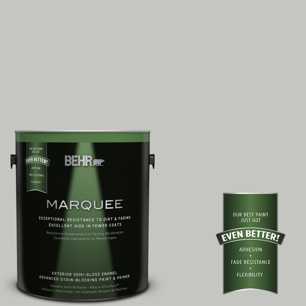 BEHR MARQUEE 1-gal. #PPF-29 Traditional Gray Semi-Gloss Enamel Exterior Paint
