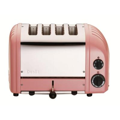 New Gen 4-Slice Petal Pink Wide Slot Toaster with Crumb Tray