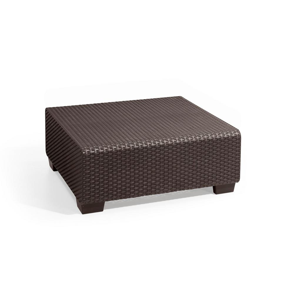 Sapporo Brown Resin Outdoor Garden Patio Coffee Table