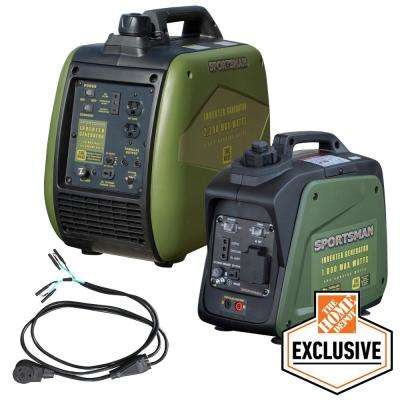 3,000-Watt/2,500-Watt Gasoline Powered Portable Inverter Generator Kit with Parallel Kit