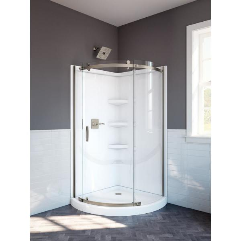 Delta Classic 38 In W X 72 H Round, Corner Shower Glass Doors Home Depot