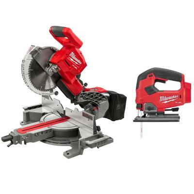M18 FUEL 18-Volt Lithium-Ion Brushless 10 in. Cordless Dual Bevel Sliding Compound Miter Saw with Jig Saw