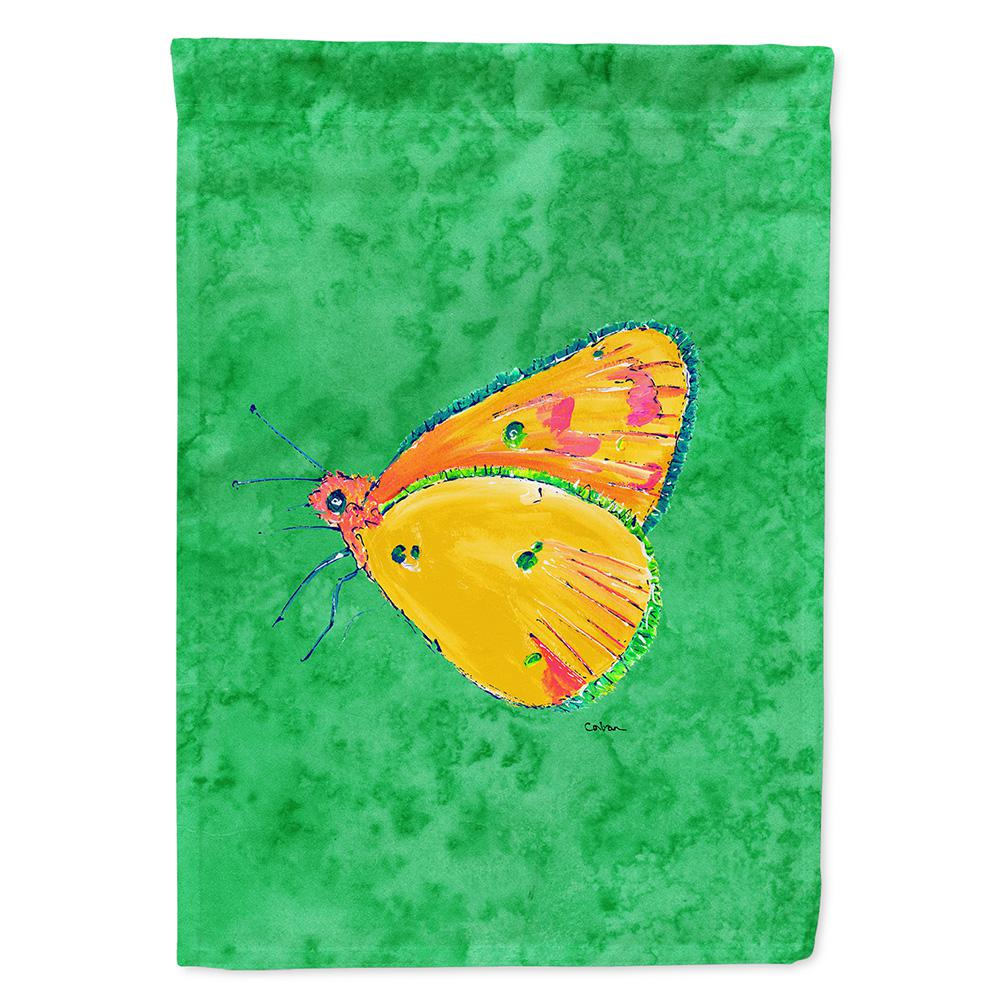 11 in. x 15-1/2 in. Polyester Butterfly Orange on Green 2-Sided