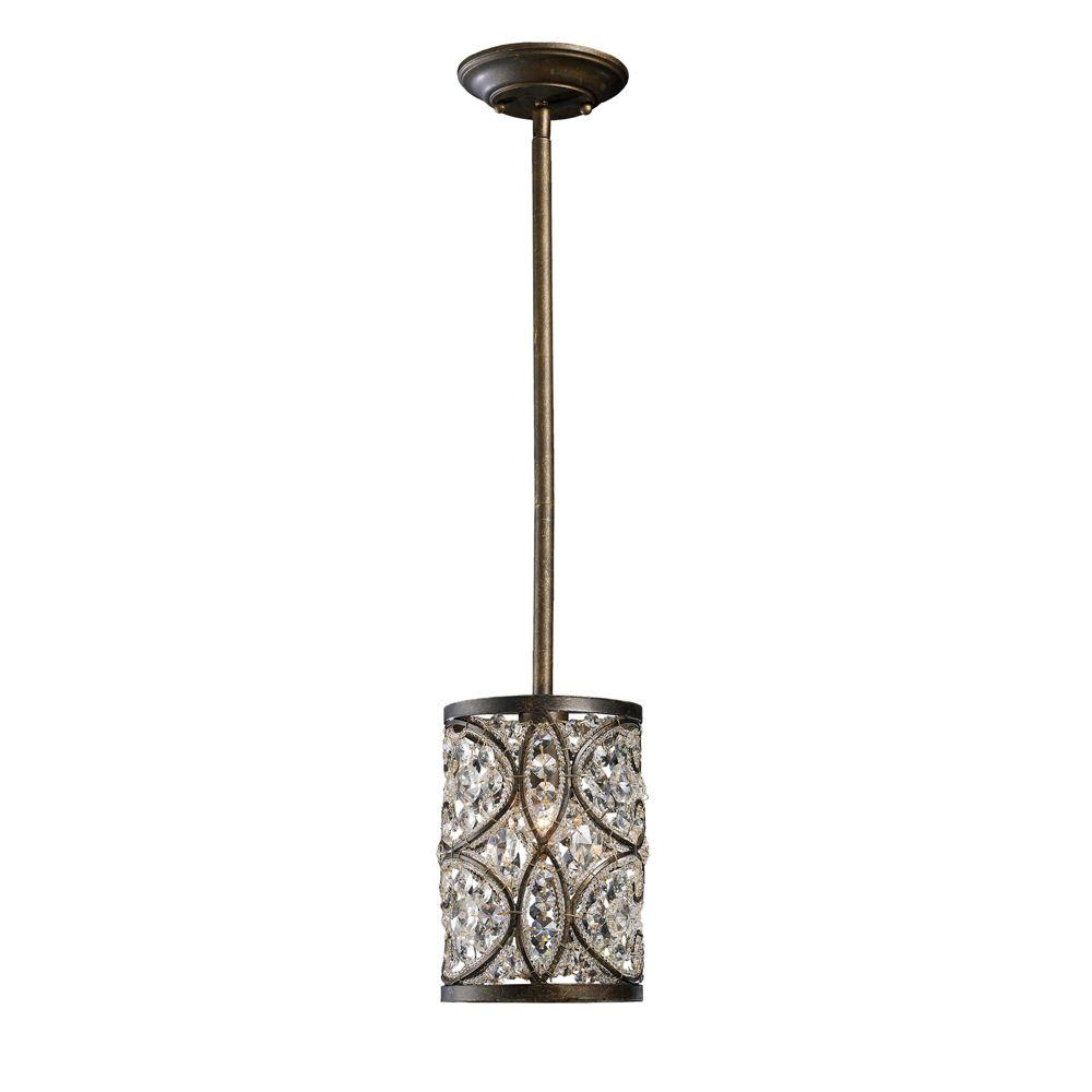 Titan Lighting Amherst 1-Light Antique Bronze Ceiling Pendant