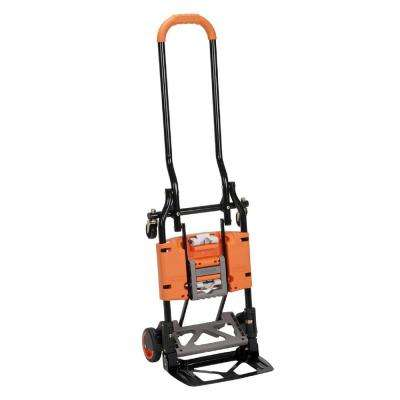 Shifter 300 lb. 2-in-1 Convertible Hand Truck and Cart in Orange
