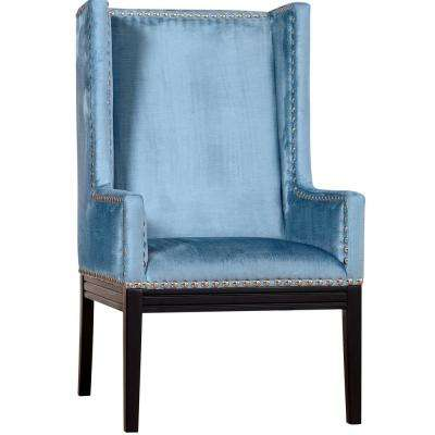 Tribeca Blue and Velvet Chair