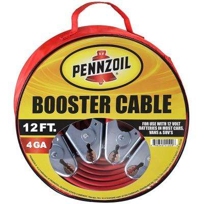 Heavy Duty 12 ft. 4-Gauge Booster Cables