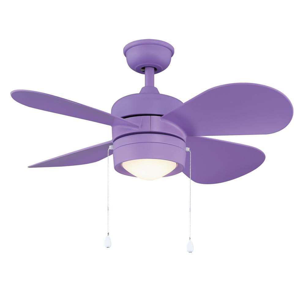Padgette 36 in. LED Purple Ceiling Fan