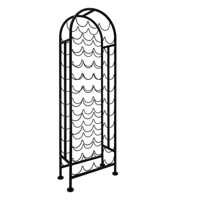 47-Bottle Matte Black Wine Rack, RTA