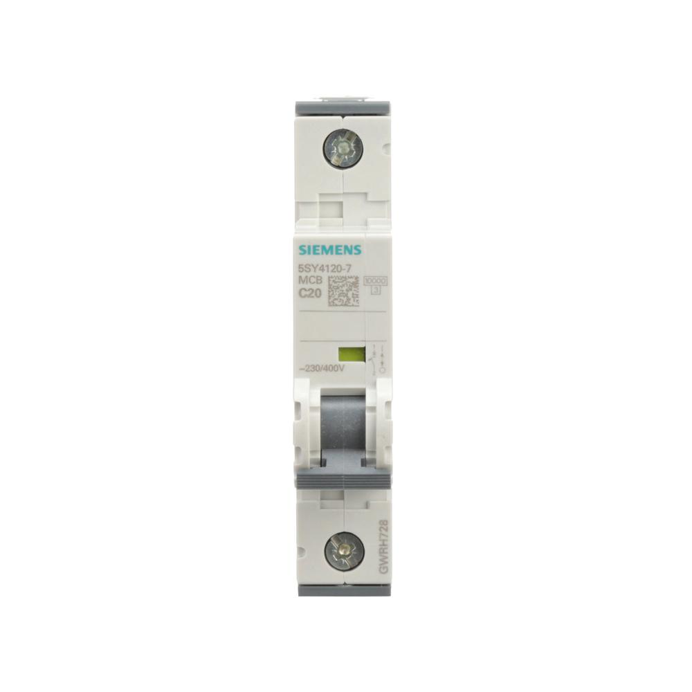 Siemens 20 Amp Single Pole Circuit Breaker 5sy41207 The Home Depot Eaton Type Br Singlepole Ground Fault