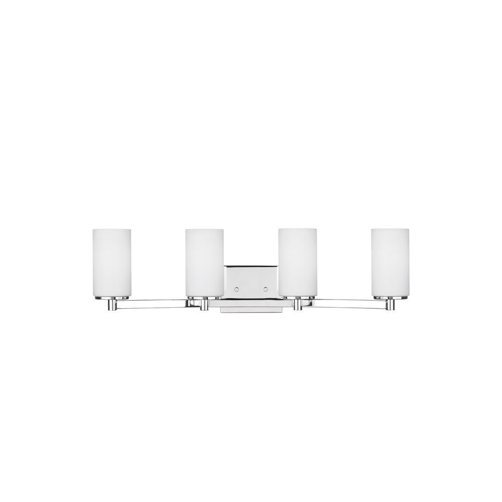 Hettinger 4-Light Chrome Bath Light