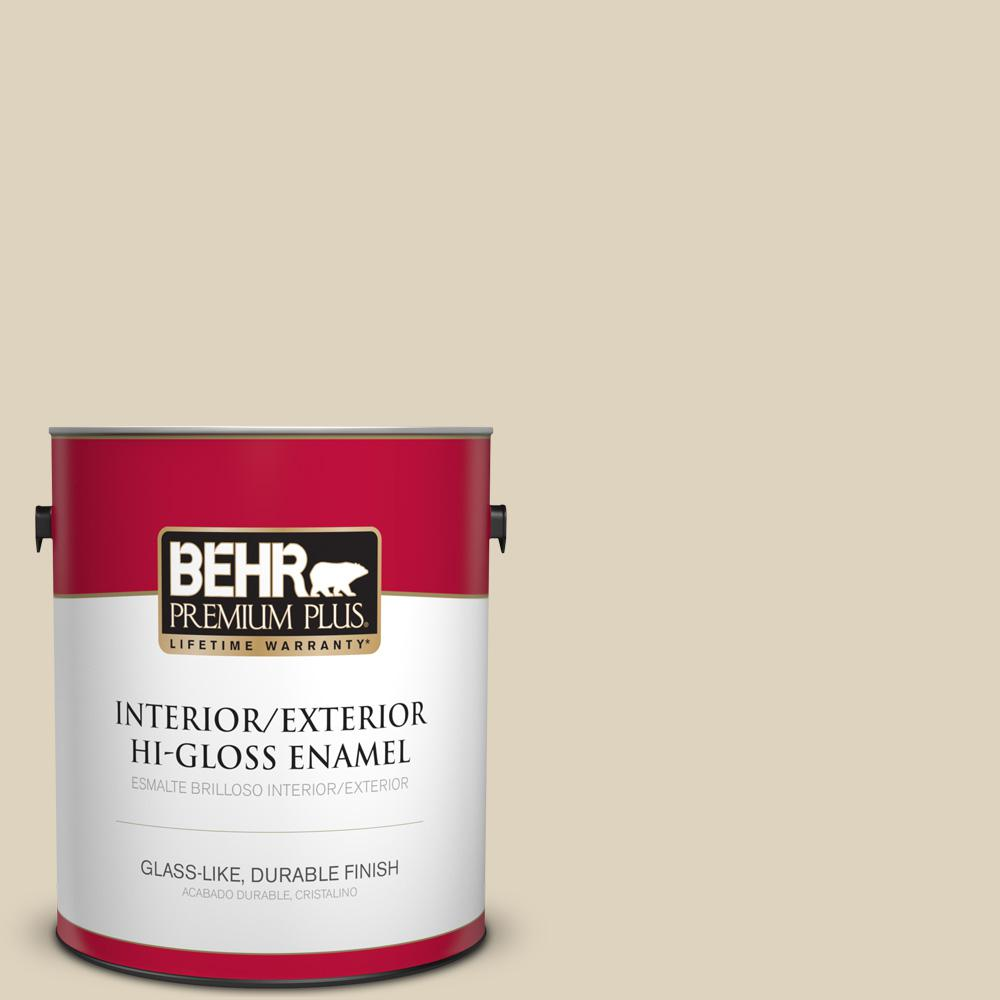 1 gal. #PPU4-12 Natural Almond Hi-Gloss Enamel Interior/Exterior Paint