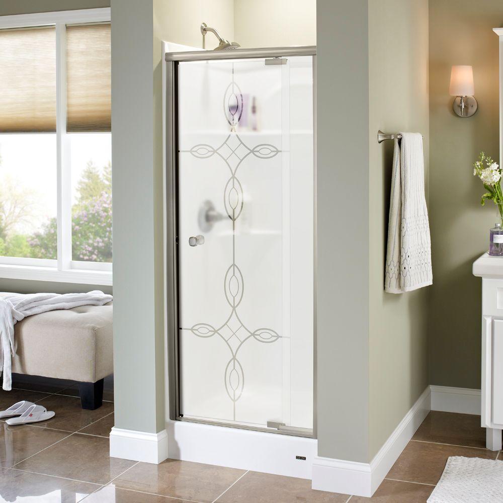 Delta Pivoting Shower Door Reviews Delta Silverton 31 In X