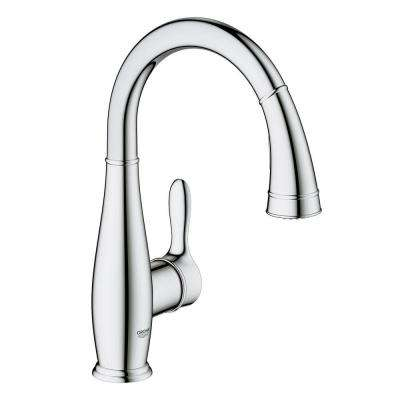 Parkfield Single-Handle Pull-Down Sprayer Kitchen Faucet with Dual Spray in StarLight Chrome