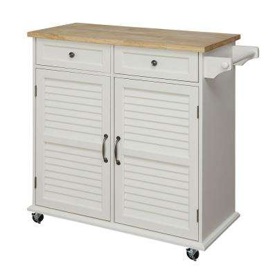 Portland White Small Kitchen Cart