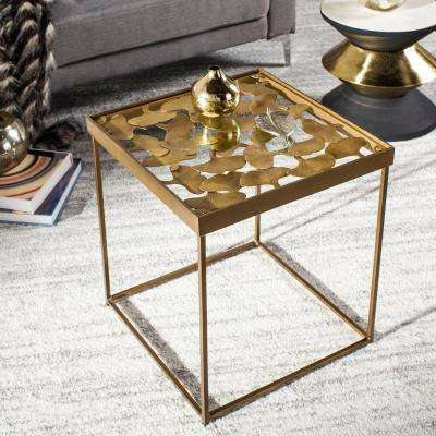 Antique Brass Accent Tables Living Room Furniture The Home Depot