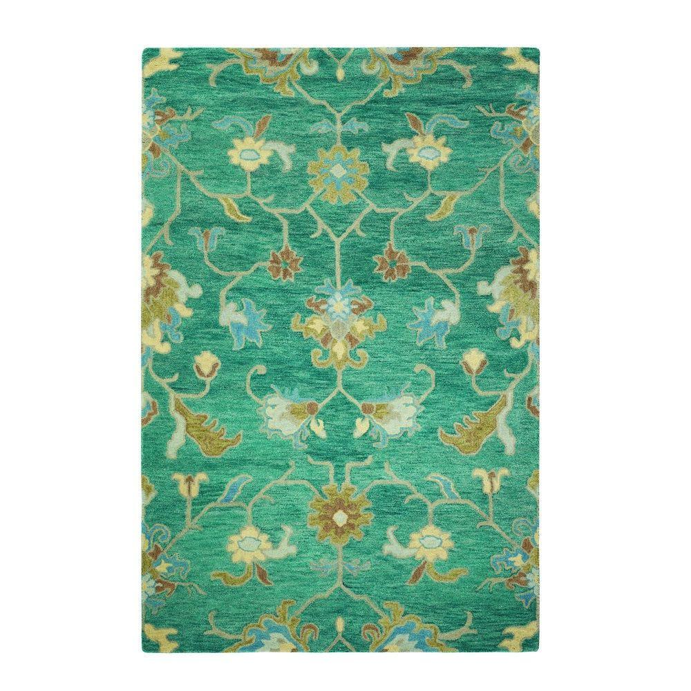 Home Decorators Collection Montpellier Teal 8 Ft. X 11 Ft. Area Rug