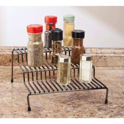 3-Tier Onyx Spice Rack Shelf Organizer