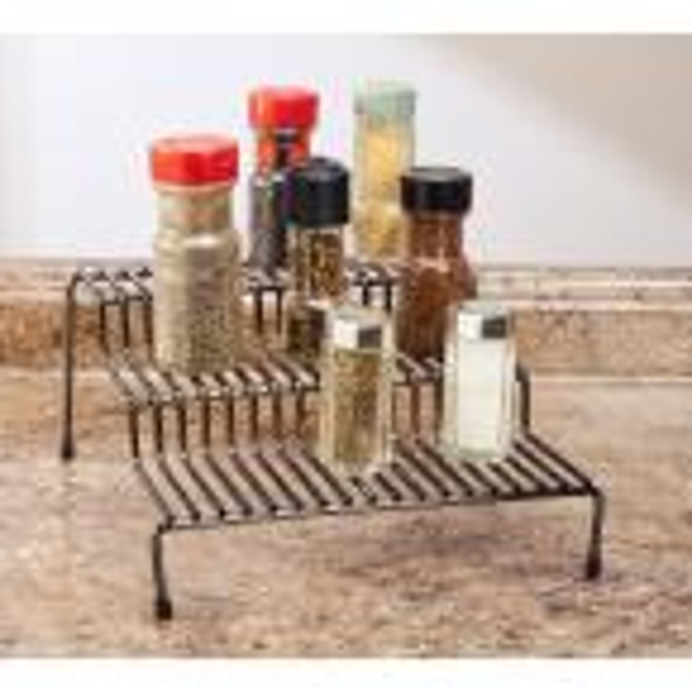 3-Tier Onyx Spice Rack Shelf Organizer