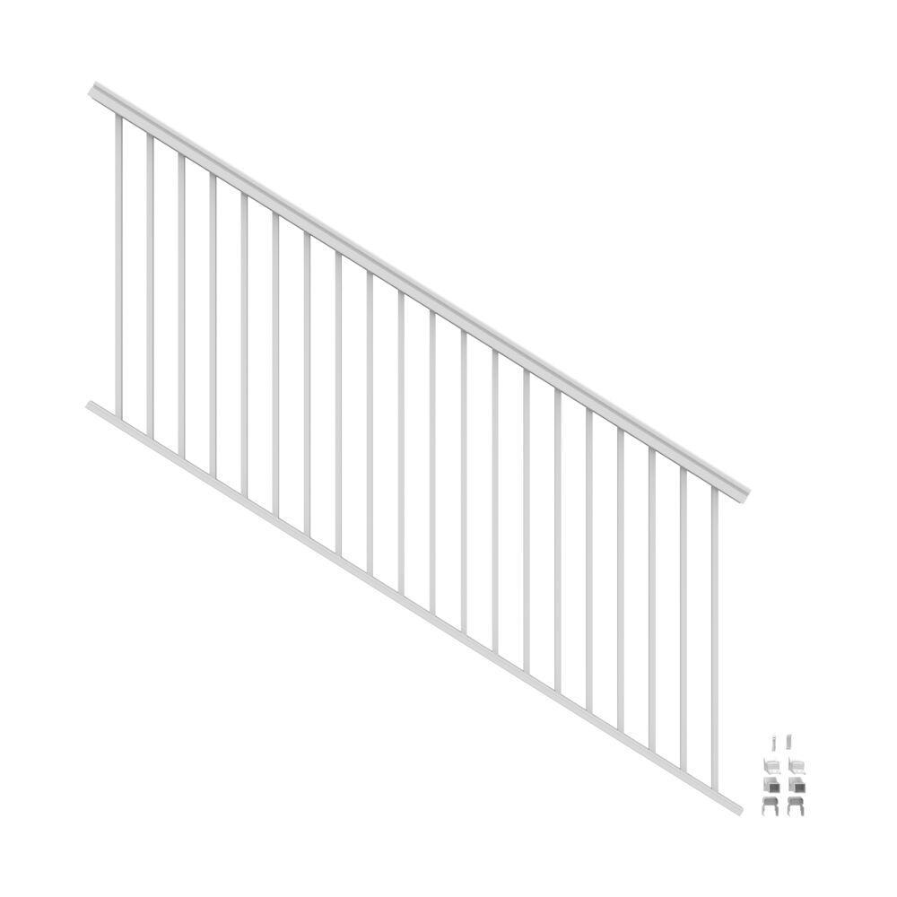 VersaRail 8 ft. x 42 in. White Aluminum Rail Stair Kit