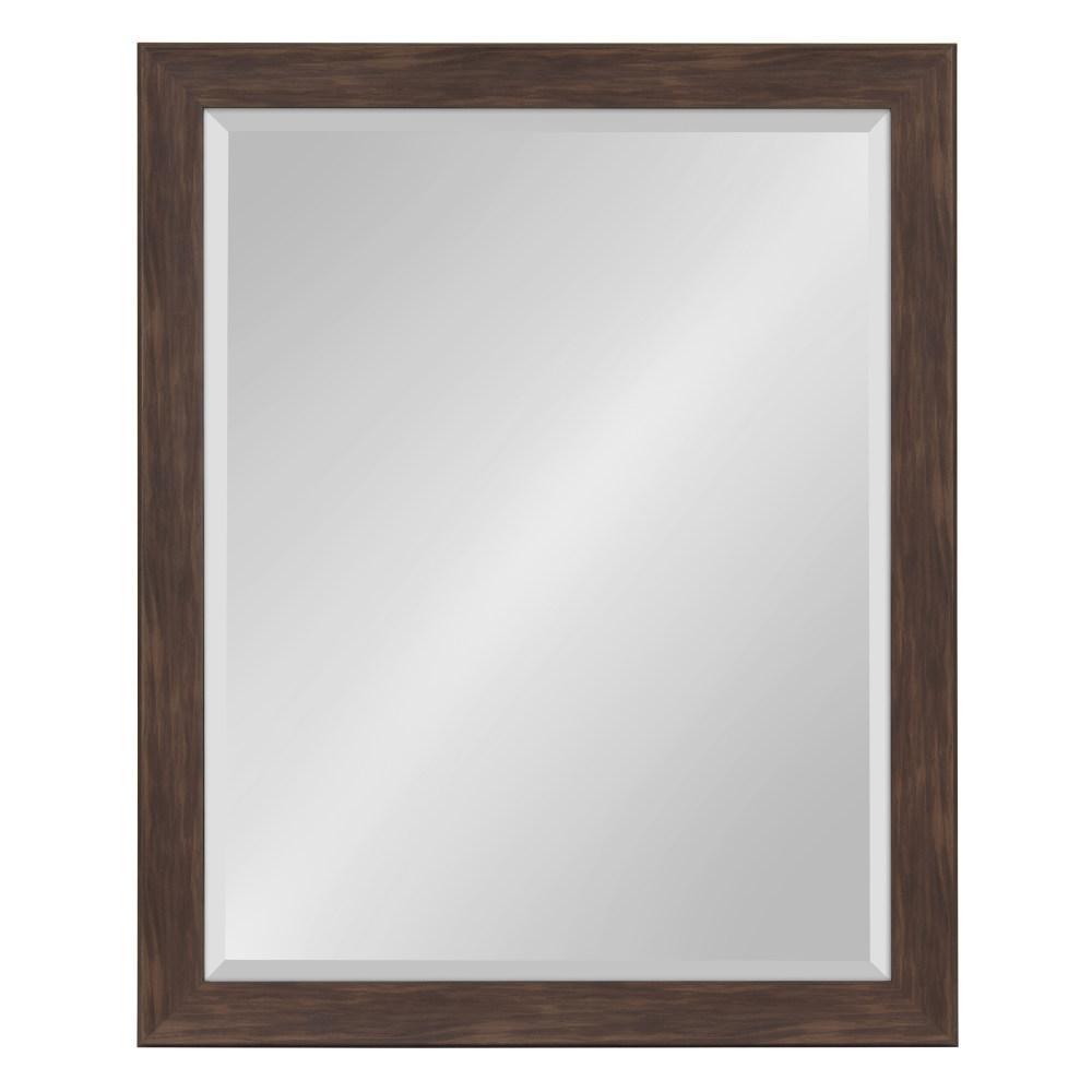 Scoop Rectangle Walnut Brown Accent Mirror