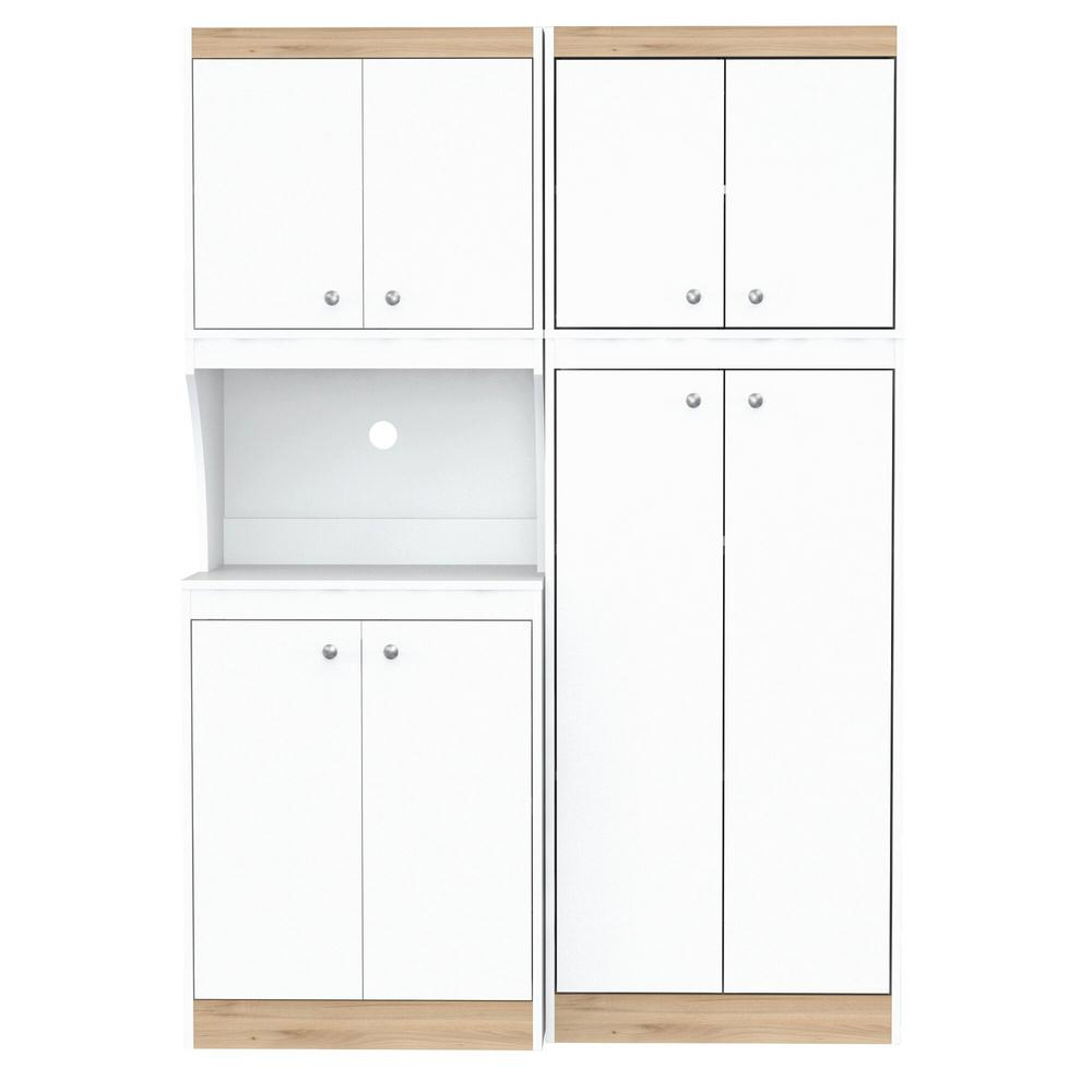 Inval Ready to Assemble 47.2 in. W x 66.93 in. H x 14.49 ...