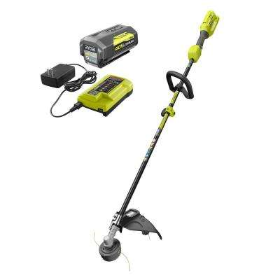 40-Volt Lithium-Ion Cordless Attachment Capable String Trimmer, 4.0 Ah Battery and Charger Included