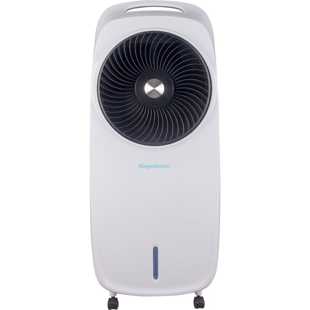 Keystone 206 CFM 3-Speed Portable Evaporative Air Cooler in White for up to  300 Sq  Ft  Cooling Area