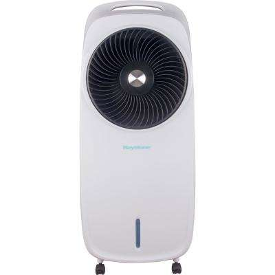 206 CFM 3-Speed Portable Evaporative Air Cooler in White for up to 300 Sq. Ft. Cooling Area