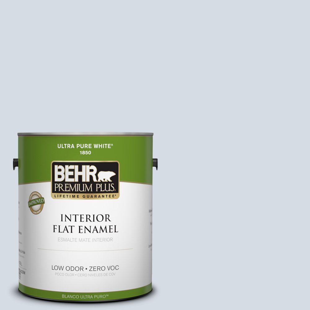 BEHR Premium Plus 1-gal. #610E-3 Drowsy Lavender Zero VOC Flat Enamel Interior Paint-DISCONTINUED